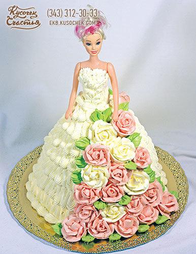 Торт-кукла без мастики