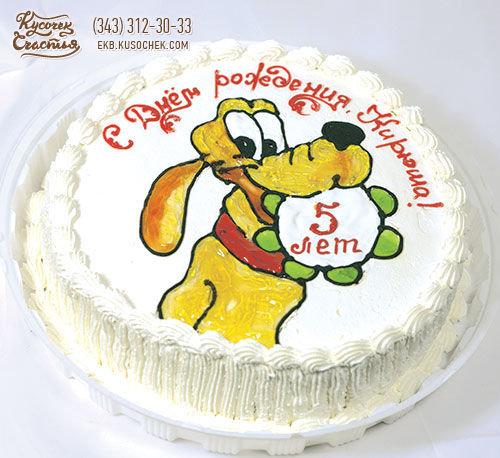 Рисованный детский торт