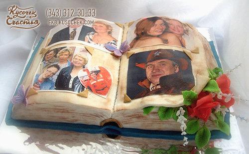 Торт в виде фотоальбома