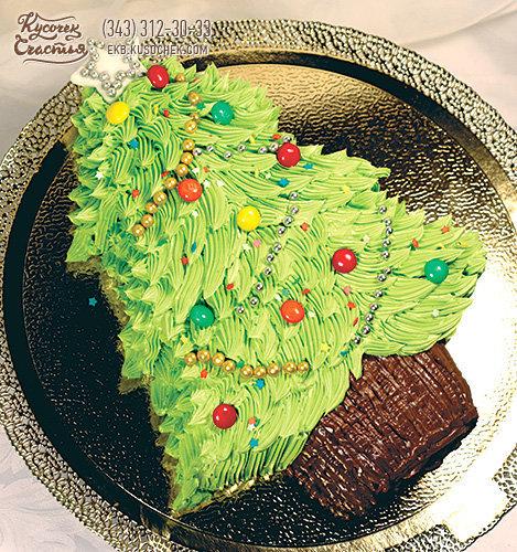 Украсить новогодний торт масляным кремом фото