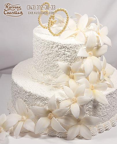Белые свадебные торты с цветами фото