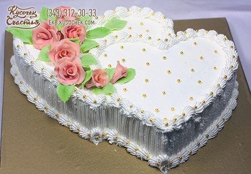 Фотографии свадебных тортов в виде сердца