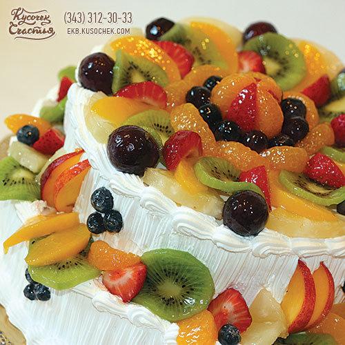 Торт в домашних условиях рецепт с фруктами 679